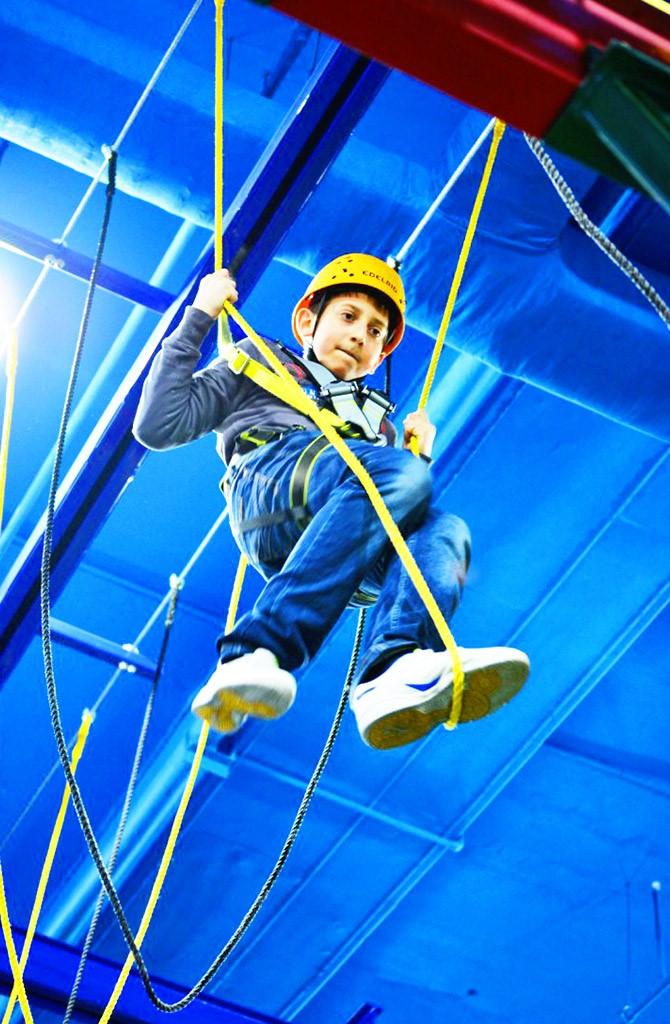 harness trampoline kids